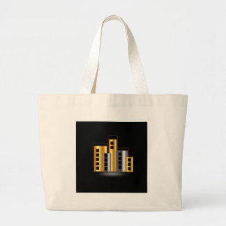 Gold and silver skyscrapers bag