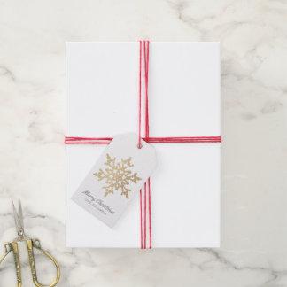 Gold and Silver Snowflake Christmas Gift Tags