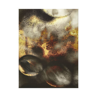 Gold and Silver Star Dust Effect Stretched Canvas Print