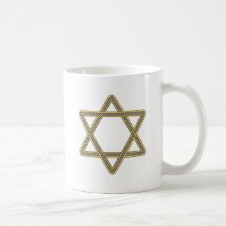 Gold and Silver Star of David for Bar Bat Mitzvah Basic White Mug
