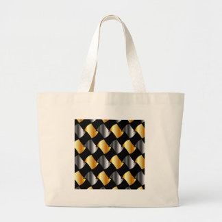 Gold and silver tiles bags