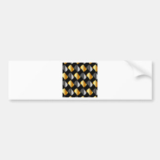 Gold and silver tiles bumper sticker