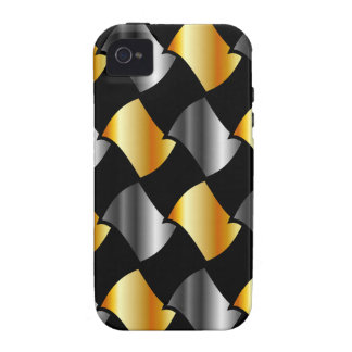 Gold and silver tiles Case-Mate iPhone 4 case