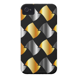 Gold and silver tiles iPhone 4 Case-Mate case