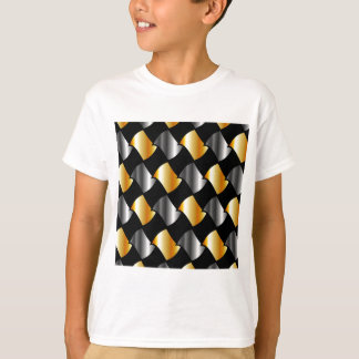 Gold and silver tiles shirt