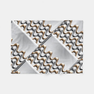 Gold and Silver Waves Fleece Blanket