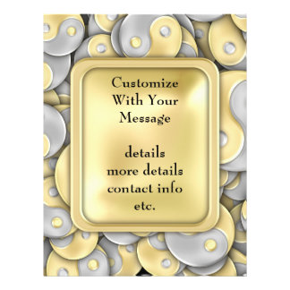 Gold and Silver Yin and Yang Personalized Flyer