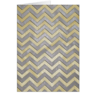 Gold and Silver Zig Zags Greeting Cards