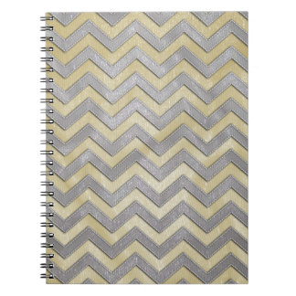 Gold and Silver Zig Zags Notebook