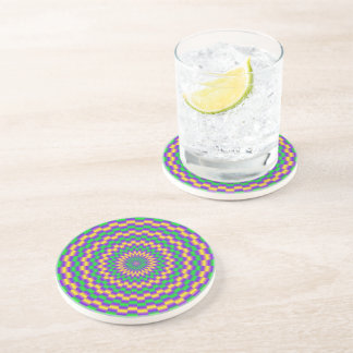 Gold and Turquoise Links Coaster