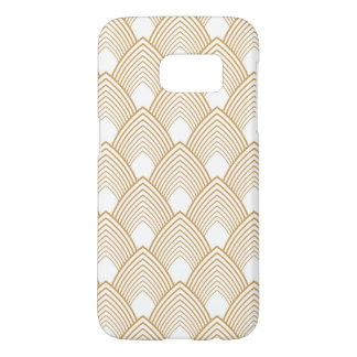 Gold and White Art Deco Pattern