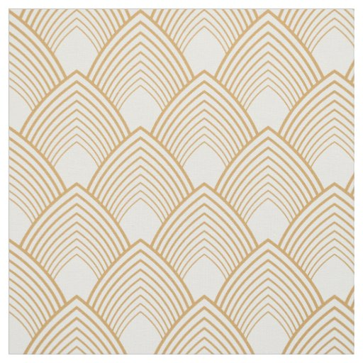 Gold and white art deco pattern fabric for Art deco patterns