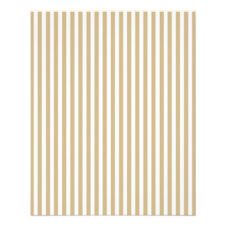 Gold and White Christmas Candy Cane Stripes Full Color Flyer