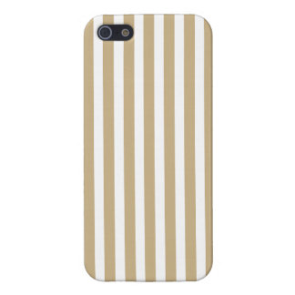 Gold and White Christmas Candy Cane Stripes Case For iPhone 5