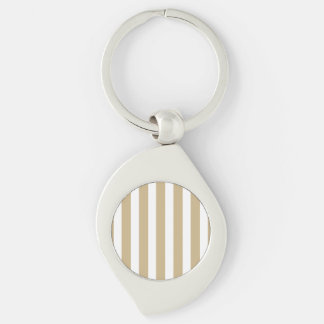 Gold and White Christmas Candy Cane Stripes Keychains