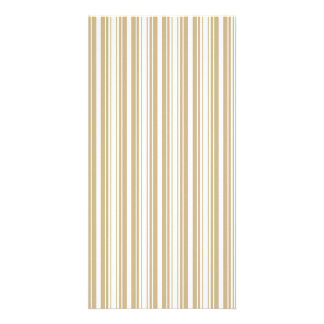Gold and White Christmas Stripes Custom Photo Card