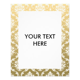 Gold and White Classic Damask 11.5 Cm X 14 Cm Flyer