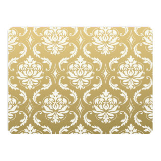 Gold and White Classic Damask 17 Cm X 22 Cm Invitation Card