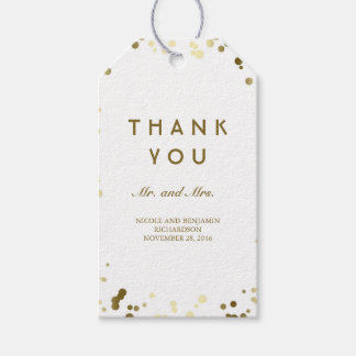 Gold and White Confetti Elegant Wedding