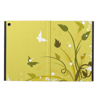 Gold and White Floral Butterfly Grunge iPad Air Cover