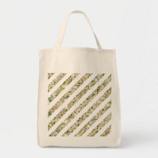 Gold and White Glitter Stripes Bag