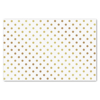Gold and White Polka Dots Tissue Paper