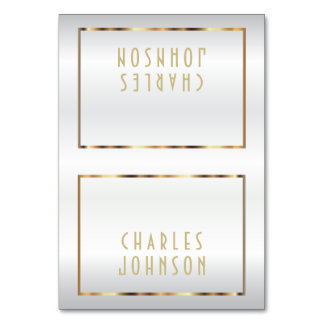 Gold and White Satin - Place Cards Table Cards