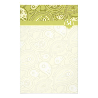 Gold and Yellow Paisley Stationery