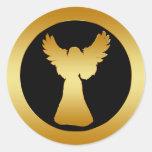 GOLD ANGEL CLASSIC ROUND STICKER