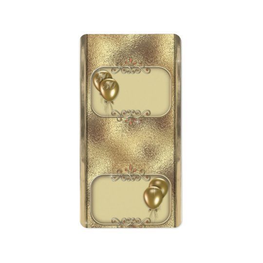 Gold Anniversary Hersheys Miniature Candy bar wrap Address Label