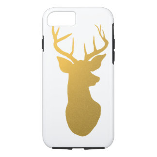 Gold Antler Modern Silhouette iPhone 7 Case