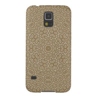 Gold arabian lace flower pattern galaxy s5 cases