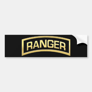 Gold Army Ranger Insignia Bumper Sticker