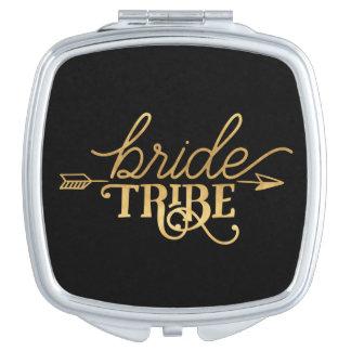 Gold Arrow Bride Tribe Compact Mirror