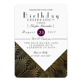Gold Art Deco 1920's | Birthday Party Invite