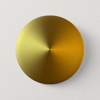 gold art golden 6 cm round badge