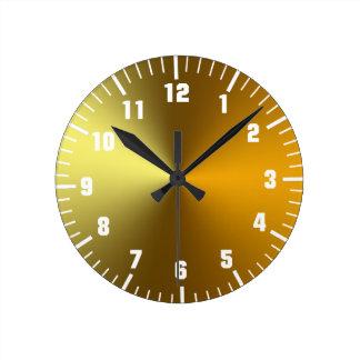 gold art golden clocks