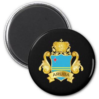 Gold Aruba 6 Cm Round Magnet