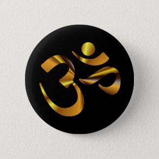 Gold Aum 6 Cm Round Badge