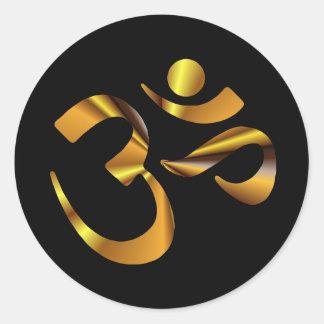 Gold Aum Stickers