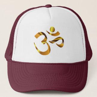 Gold Aum Trucker Hat