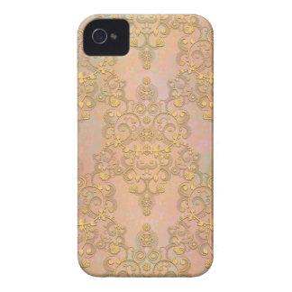 Gold Aurora Fancy Antique Lace Damask Case-Mate iPhone 4 Case