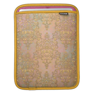 Gold Aurora Fancy Antique Lace Damask Sleeves For iPads