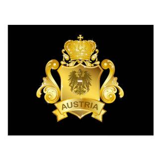 Gold Austria Post Card