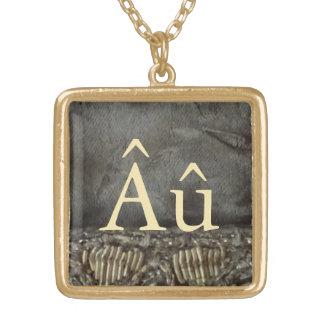 Gold Autism Symbol Pendant