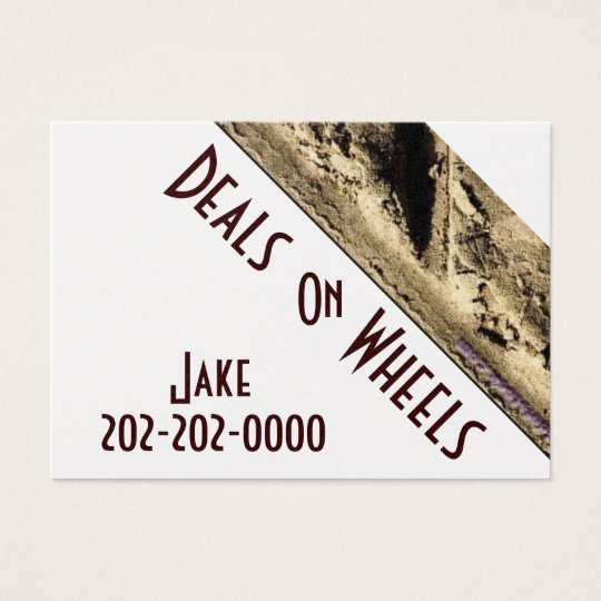 Gold Automotive Wheels Business Cards