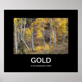 Gold Autumn Demotivational Poster