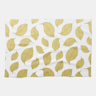 GOLD AUTUMN LEAVES - Kitchen towel