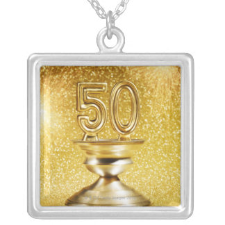 Gold Awards Square Pendant Necklace