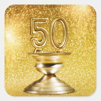 Gold Awards Square Sticker